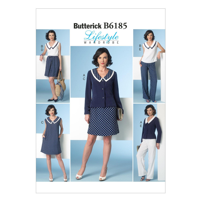 1960s – 70s Sewing Patterns- Dresses, Tops, Pants, Mens Butterick Misses Casual - B6185 $19.95 AT vintagedancer.com