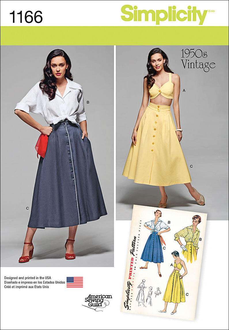 1950s Sewing Patterns | Dresses, Skirts, Tops, Mens Simplicity Pattern 1166H5 6 - 8 - 10 - 12 - - Sportswear $18.95 AT vintagedancer.com