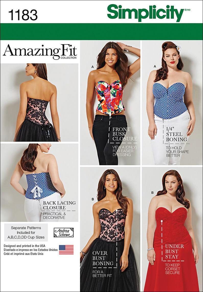 Steampunk Sewing Patterns- Dresses, Coats, Plus Sizes, Men's Patterns Simplicity Pattern 1183BB 20W - 28W - Tops Vest Jkts Co $19.95 AT vintagedancer.com