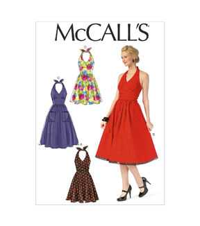1950s Fabrics & Colors in Fashion McCalls Pattern - M7157 - A50 Misses Dresses - 6 - 8 - 10 - 12 - 14 - Sewing Supplies - Patterns $19.95 AT vintagedancer.com