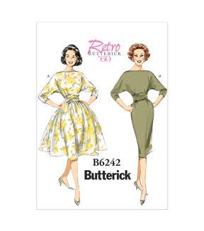 1960s – 70s Sewing Patterns- Dresses, Tops, Pants, Men's Butterick Misses Dress - B6242 $19.95 AT vintagedancer.com