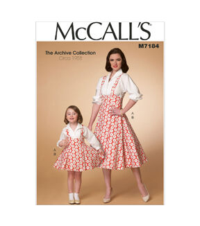 Kids 1950s Clothing & Costumes: Girls, Boys, Toddlers 1958 McCalls Mother  Daughter Dress - M7184 $19.95 AT vintagedancer.com