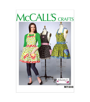 Vintage Aprons, Retro Aprons, Old Fashioned Aprons & Patterns McCalls Pattern M7208 Misses Aprons - Size XS - XL $19.95 AT vintagedancer.com