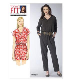 1960s – 70s Sewing Patterns- Dresses, Tops, Pants, Mens Vogue Patterns Misses Dress - V1483 $21.00 AT vintagedancer.com
