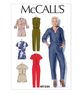1940s Fabrics and Colors in Fashion McCalls Misses Casual M7330 $13.96 AT vintagedancer.com
