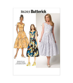 1960s – 70s Sewing Patterns- Dresses, Tops, Pants, Mens Butterick Pattern B6203 - E50 - Misses Dress - 14 - 16 - 18 - 20 - 22 - Sewing Supplies - Patterns $19.95 AT vintagedancer.com