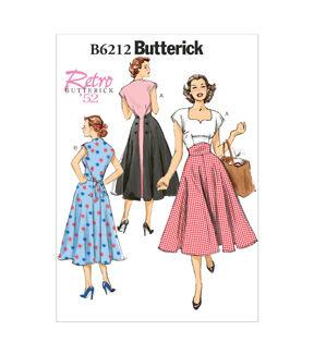 1950s Sewing Patterns | Dresses, Skirts, Tops, Mens Butterick Misses Dress - B6212 $13.96 AT vintagedancer.com