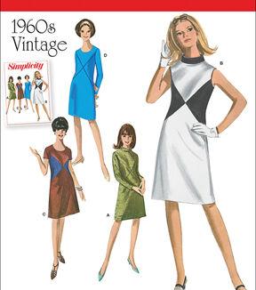 1960s – 70s Sewing Patterns- Dresses, Tops, Pants Simplicity Patterns Us1012Aa - Simplicity Misses And Miss Plus 1960S Vintage Dresses - 10 - 12 - 14 - 16 - 18 $18.95 AT vintagedancer.com