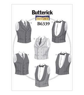 Steampunk Sewing Patterns- Dresses, Coats, Plus Sizes, Men's Patterns Butterick Mens Historical Costumes - B6339 $19.95 AT vintagedancer.com