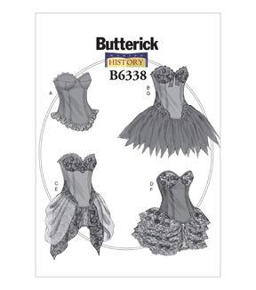Steampunk Sewing Patterns- Dresses, Coats, Plus Sizes, Men's Patterns Butterick Misses Historical Costumes - B6338 $19.95 AT vintagedancer.com