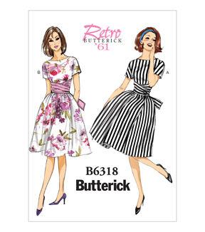 1960s – 70s Sewing Patterns- Dresses, Tops, Pants, Mens Butterick Misses Dress - B6318 $19.95 AT vintagedancer.com
