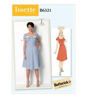 1950s Sewing Patterns | Swing and Wiggle Dresses, Skirts Butterick Misses Dress - B6321 $19.95 AT vintagedancer.com