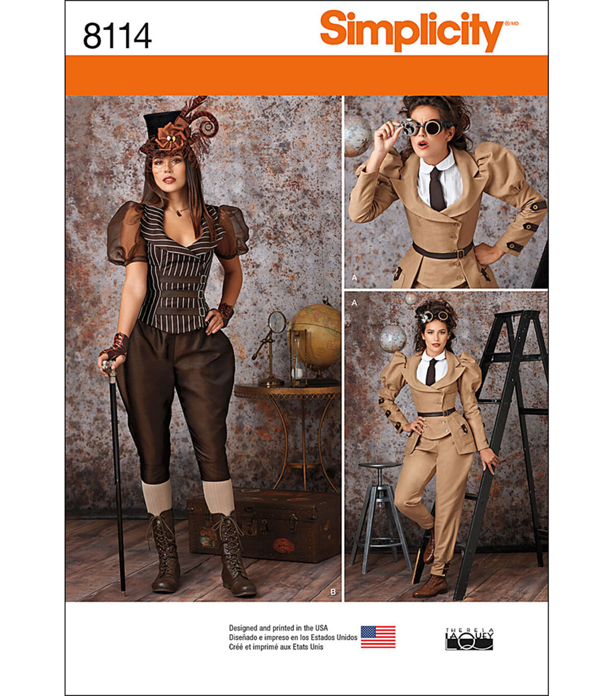Steampunk Sewing Patterns- Dresses, Coats, Plus Sizes, Men's Patterns Simplicity Patterns US8114H5 Costumes - 6 - 8 - 10 - 12 - 14 $20.95 AT vintagedancer.com
