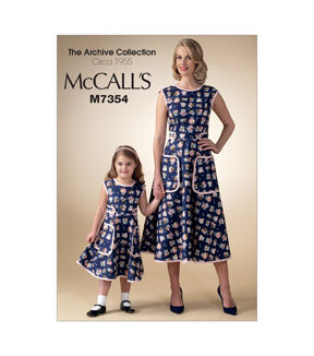 Kids 1950s Clothing & Costumes: Girls, Boys, Toddlers 1955 McCalls Mother  Daughter Dress - M7354 $19.95 AT vintagedancer.com