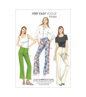 1960s – 70s Sewing Patterns- Dresses, Tops, Pants, Mens Vogue Patterns Misses Pants - V9181 $15.75 AT vintagedancer.com