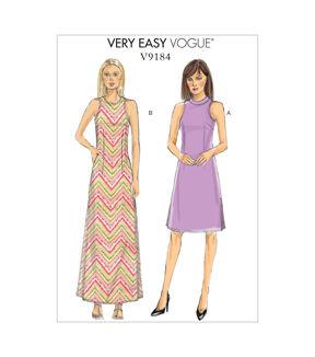 1960s – 70s Sewing Patterns- Dresses, Tops, Pants, Mens Vogue Patterns Misses Dress - V9184 $15.75 AT vintagedancer.com