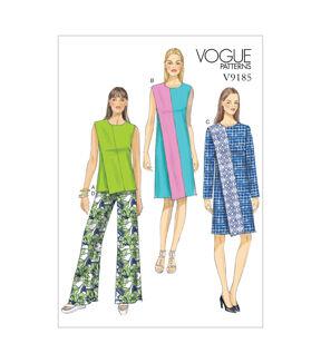 1960s – 70s Sewing Patterns- Dresses, Tops, Pants, Mens Vogue Patterns Misses Casual - V9185 $17.50 AT vintagedancer.com