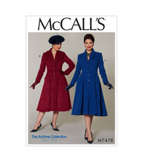 1940s Sewing Patterns – Dresses, Overalls, Lingerie etc McCalls Misses Outerwear - M7478 $19.95 AT vintagedancer.com