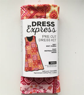 1960s – 70s Sewing Patterns- Dresses, Tops, Pants, Mens Dress Express Pre - Cut Dress Kit - Boho Floral - Small $29.99 AT vintagedancer.com