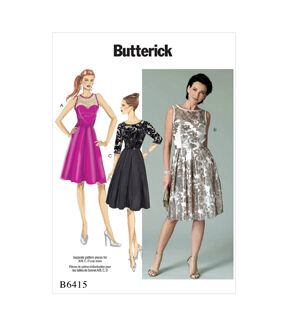 1950s Sewing Patterns | Dresses, Skirts, Tops, Mens Butterick Pattern B6415 Misses Pleated - Skirt Dresses - Size 14 - 22 $19.95 AT vintagedancer.com