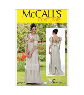 Masquerade Ball Clothing: Masks, Gowns, Tuxedos McCalls Pattern M7420 Misses Laced - Back Dress - Size 14 - 16 - 18 - 20 - 22 $19.95 AT vintagedancer.com