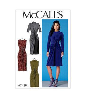 1960s – 70s Sewing Patterns- Dresses, Tops, Pants, Mens McCalls Pattern M7429 Misses Twist - Front Dresses - Size 14 - 16 - 18 - 20 - 22 $19.95 AT vintagedancer.com