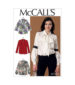 1960s – 70s Sewing Patterns- Dresses, Tops, Pants, Mens McCalls Pattern M7436 Misses Notch - Neck Tops - Size 14 - 16 - 18 - 20 - 22 $11.97 AT vintagedancer.com