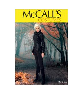 Steampunk Sewing Patterns- Dresses, Coats, Plus Sizes, Men's Patterns McCalls Pattern M7456 Seamed Jacket Stirrup Leggings  Cape - Size 14 - 22 - 14-16-18-20-22 $17.95 AT vintagedancer.com