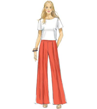 1960s – 70s Sewing Patterns- Dresses, Tops, Pants, Mens McCalls Pattern M7483 Misses Top  Pleated Wide - Leg Pants - Size 14 - 22 $19.95 AT vintagedancer.com