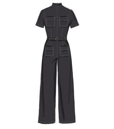 1960s – 70s Sewing Patterns- Dresses, Tops, Pants, Mens McCalls Pattern M7539 Misses Dresses Romper  Jumpsuit - Size 14 - 22 $18.95 AT vintagedancer.com