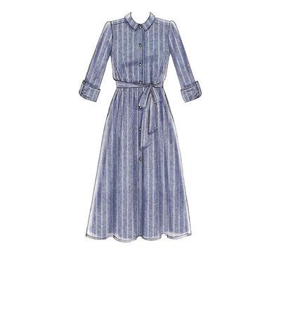 1960s – 70s Sewing Patterns- Dresses, Tops, Pants, Mens McCalls Pattern M7565 Misses Shirt Dresses - Size L - XL - XXL $18.95 AT vintagedancer.com