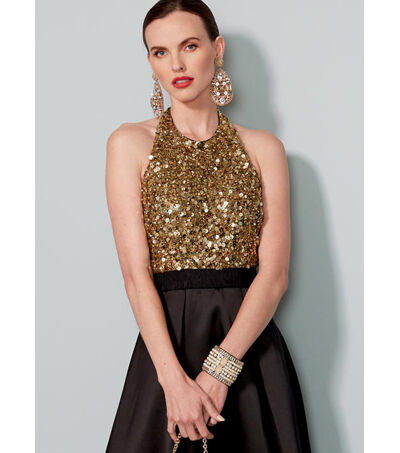 1960s – 70s Sewing Patterns- Dresses, Tops, Pants, Mens Vogue Pattern V1534 Misses Pleated Floor - Length Dress - Size 6 - 8 - 10 - 12 - 14 $19.20 AT vintagedancer.com