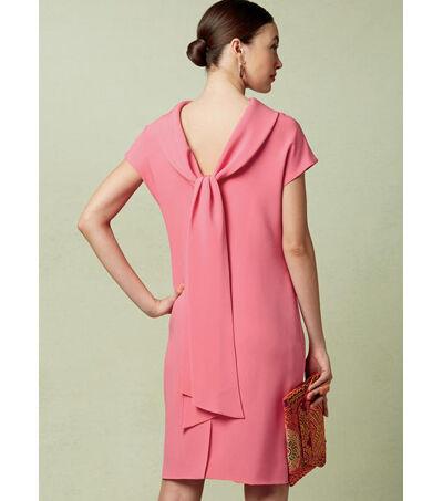 1960s – 70s Sewing Patterns- Dresses, Tops, Pants, Mens Vogue Pattern V1544 Misses Lined Shift Dress - Size 14 - 16 - 18 - 20 - 22 $22.40 AT vintagedancer.com