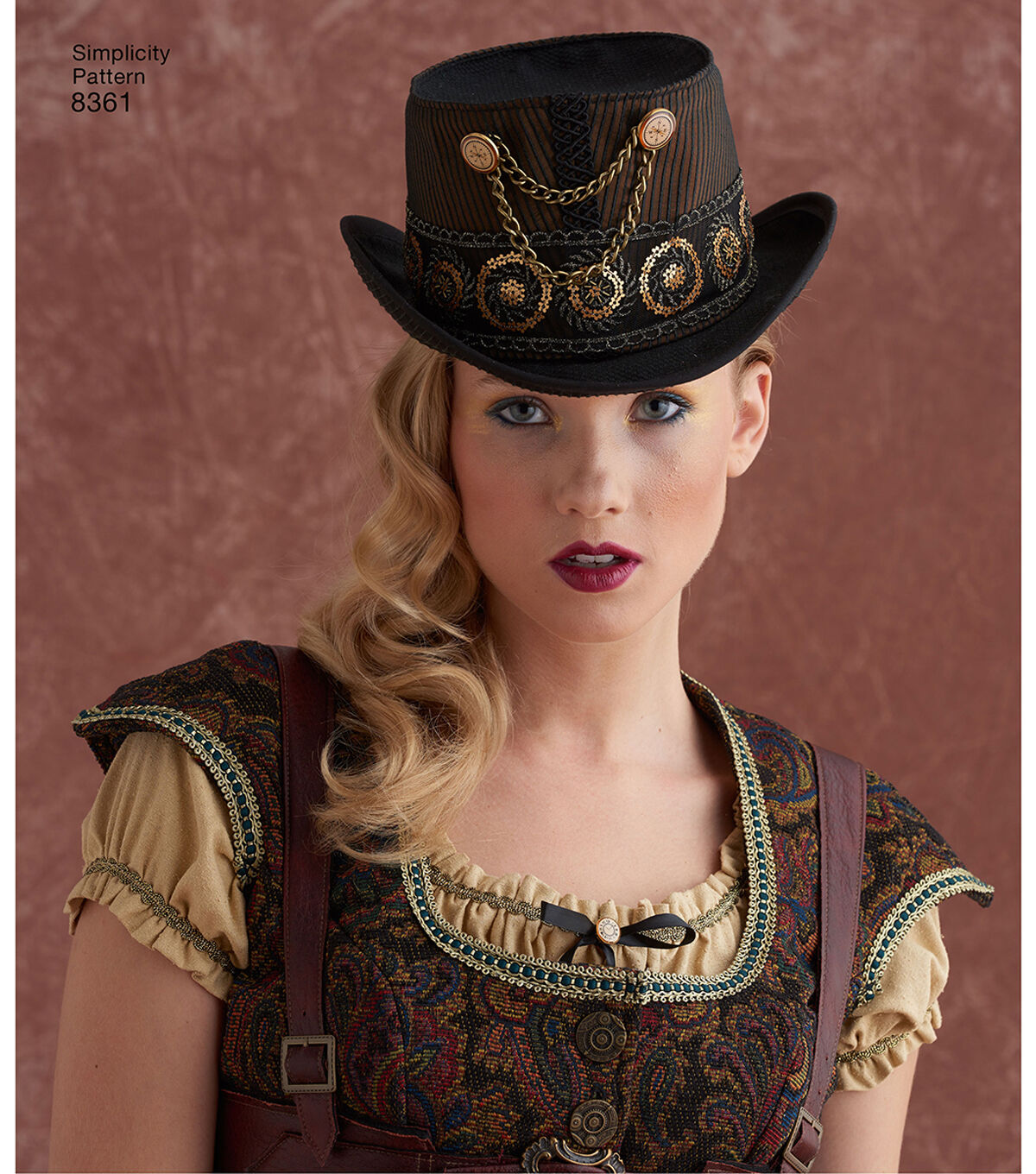 Guide to Victorian Civil War Costumes on a Budget Simplicity Pattern 8361 Hats in Three Sizes - Size A S - M - L $15.36 AT vintagedancer.com