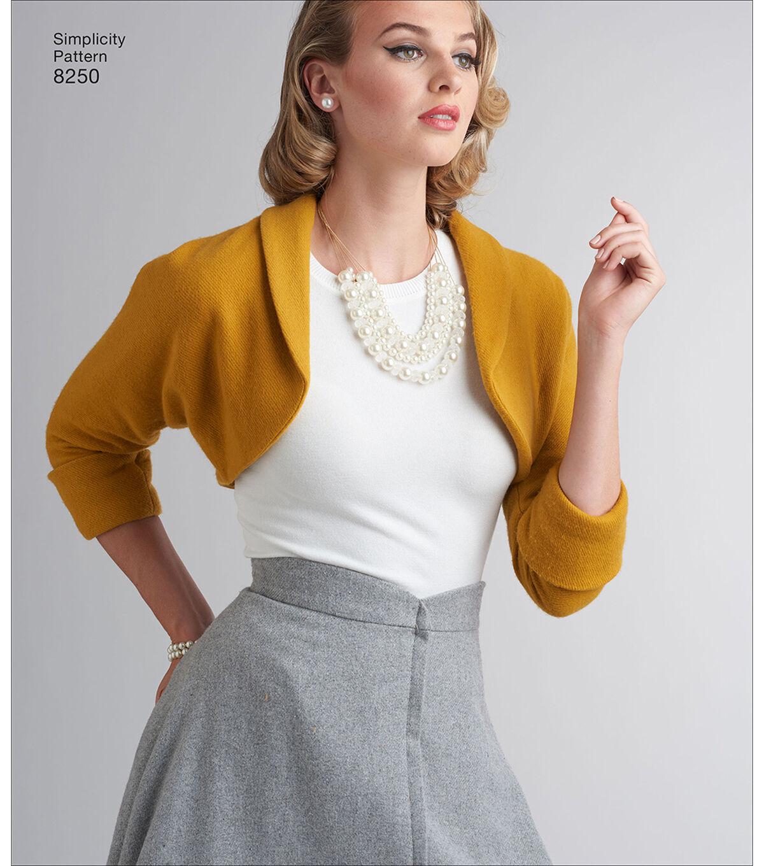 1960s Makeup & Beauty Products Simplicity Pattern 8250 Misses Vintage Skirt  Bolero - Size U5 16 - 24 $12.57 AT vintagedancer.com