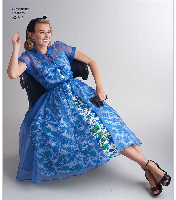 1950s Sewing Patterns | Dresses, Skirts, Tops, Mens Simplicity Pattern 8252 Misses 1950s Dress  Redingote - Size D5 4 - 12 $14.66 AT vintagedancer.com