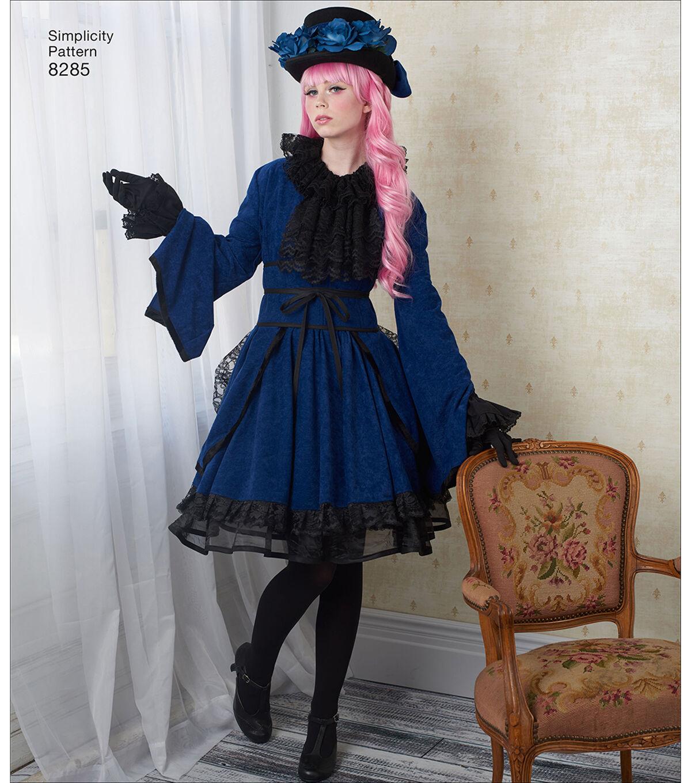 Steampunk Sewing Patterns- Dresses, Coats, Plus Sizes, Men's Patterns Simplicity Pattern 8285 Misses Costumes - Size H5 6 - 8 - 10 - 12 - 14 $21.95 AT vintagedancer.com