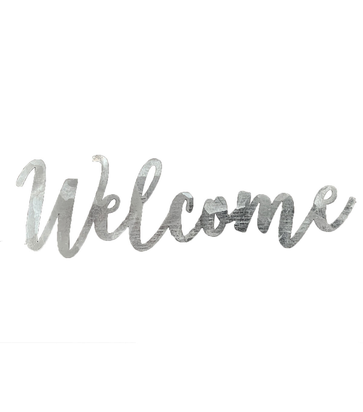 galvanized welcome sign from Joann stores