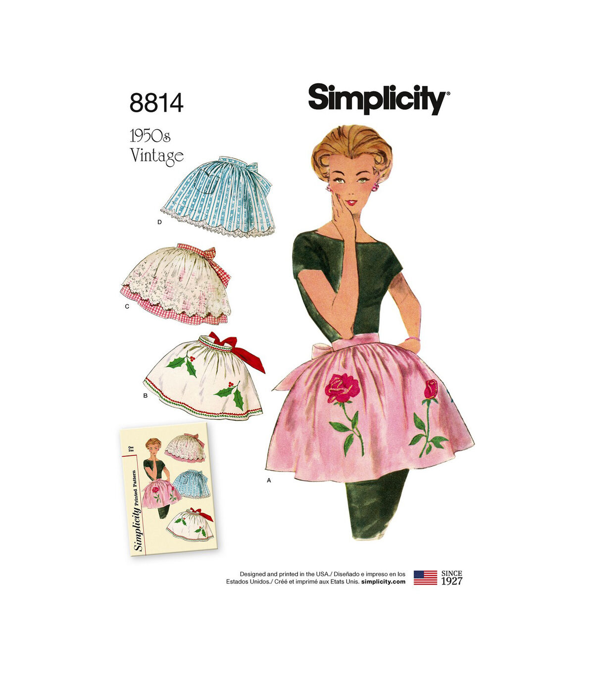 10 Things to Do with Vintage Aprons Simplicity Pattern 8814 Misses Vintage Aprons $22.95 AT vintagedancer.com