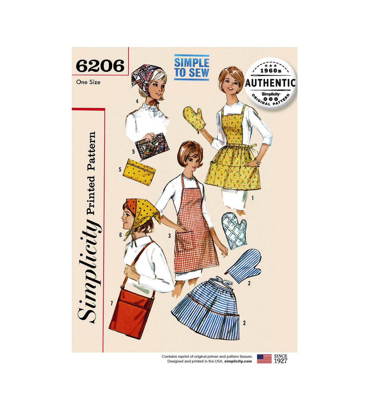 10 Things to Do with Vintage Aprons Simplicity Pattern 6206 Vintage Gifts  Kitchen Accessories $22.95 AT vintagedancer.com