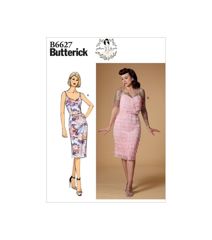 1950s Sewing Patterns | Dresses, Skirts, Tops, Mens Butterick Pattern B6627 Misses Dress - Size 14 - 16 - 18 - 20 - 22 $14.66 AT vintagedancer.com