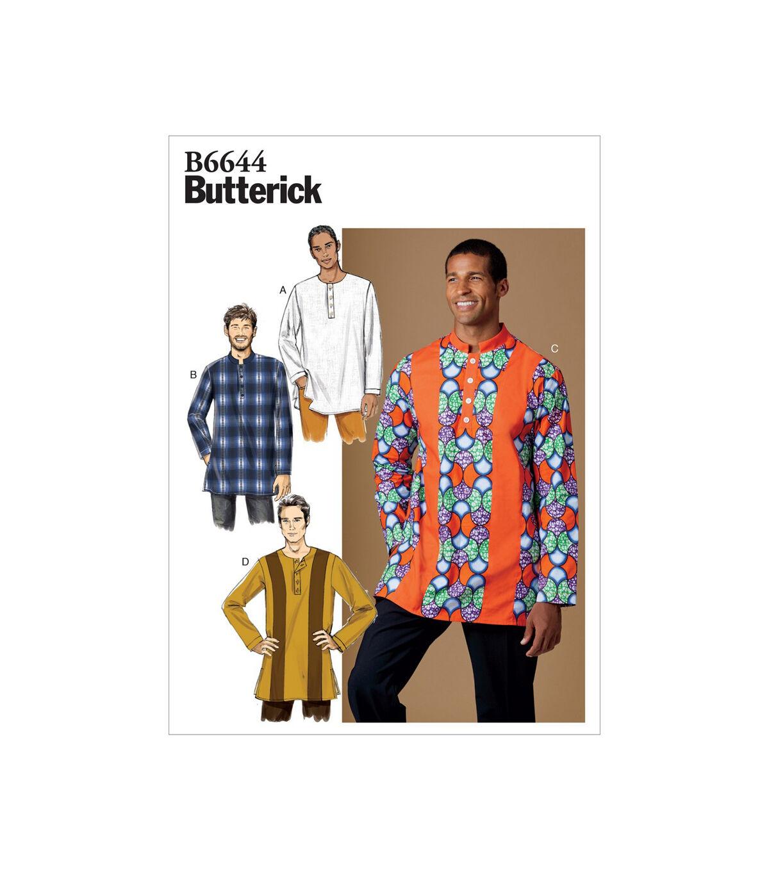 Men's Vintage Reproduction Sewing Patterns Butterick Pattern B6644 Mens Shirt - Size S - M - L $11.97 AT vintagedancer.com
