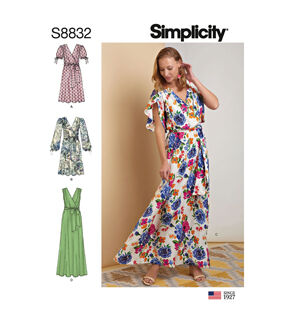 1960s – 70s Sewing Patterns- Dresses, Tops, Pants, Mens Simplicity Pattern S8832 Misses Pullover Dress - Size R5 14 - 16 - 18 - 20 - 22 $20.95 AT vintagedancer.com