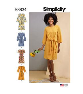 1960s – 70s Sewing Patterns- Dresses, Tops, Pants, Men's Simplicity Pattern S8834 Misses Tie - Front Dress - Size P5 12 - 20 $20.95 AT vintagedancer.com