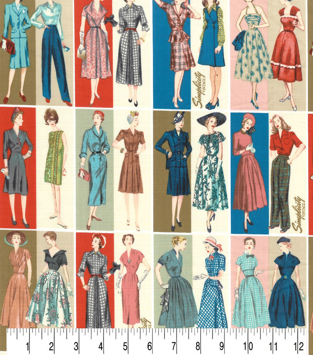 1960s Sewing Patterns | 1970s Sewing Patterns Premium Cotton Fabric Simplicity Vintage Ladies $8.99 AT vintagedancer.com