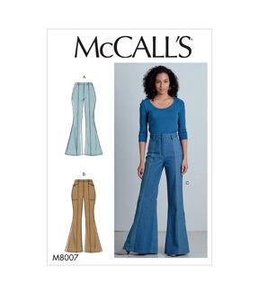 1960s – 70s Sewing Patterns- Dresses, Tops, Pants, Men's McCalls Pattern M8007 Misses Pants Size 14 16 18 20 22 $13.96 AT vintagedancer.com