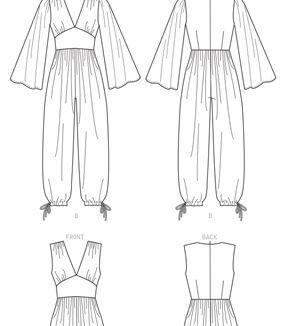 1960s – 70s Sewing Patterns- Dresses, Tops, Pants, Men's McCalls Pattern M8009 Misses Romper  Jumpsuits Size 14 16 18 20 22 $13.96 AT vintagedancer.com