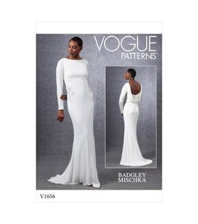 1960s – 70s Sewing Patterns- Dresses, Tops, Pants, Mens Vogue Pattern V1656 Misses Special Occasion Dress - Size 6 - 8 - 10 - 12 - 14 $24.50 AT vintagedancer.com