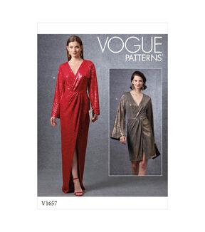 1960s – 70s Sewing Patterns- Dresses, Tops, Pants, Men's Vogue Pattern V1657 Misses Special Occasion Dress - Size 6 - 8 - 10 - 12 - 14 $32.00 AT vintagedancer.com