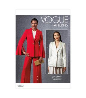 1960s – 70s Sewing Patterns- Dresses, Tops, Pants, Men's Vogue Pattern V1667 Misses Jacket - Size 6 - 8 - 10 - 12 - 14 $32.00 AT vintagedancer.com